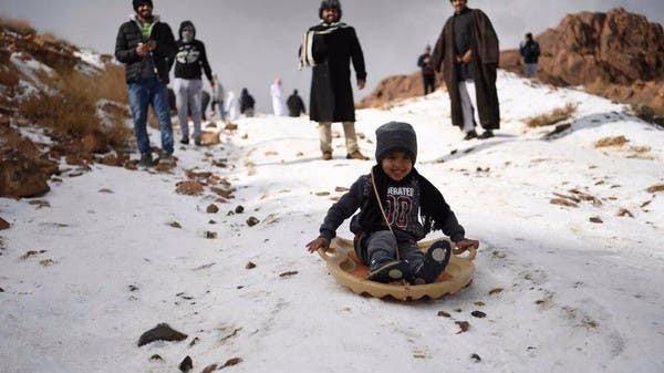 Snowfall In Saudi Arabia Mountains